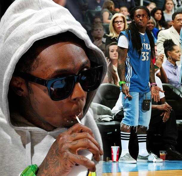 Lil Wayne Courtside St...